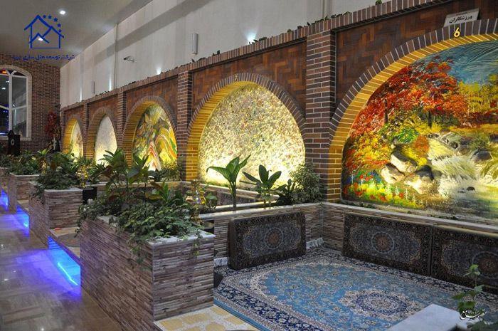 رستوران های معروف تبریز- باغچه سنتی برکه
