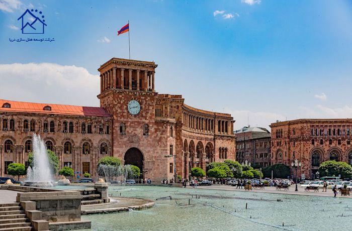 مهمترین جاذبه های گردشگری ایروان - میدان جمهوری