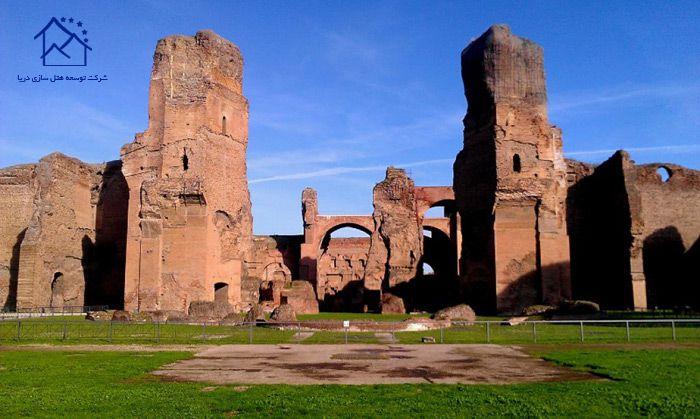 جاذبه های دیدنی در رم - حمام کاراکالا