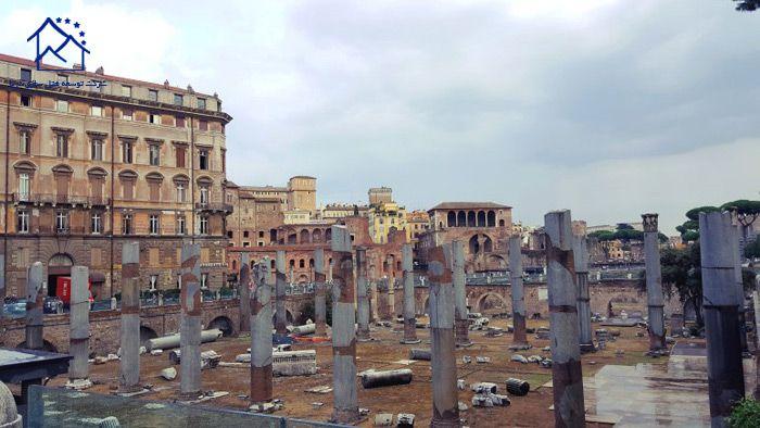 جاذبه های دیدنی در رم - میدان تراژان