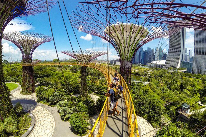 مهمترین جاذبه های گردشگری سنگاپور - باغ های مجاور خلیج