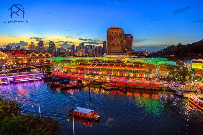 مهمترین جاذبه های گردشگری سنگاپور - اسکله کلارک