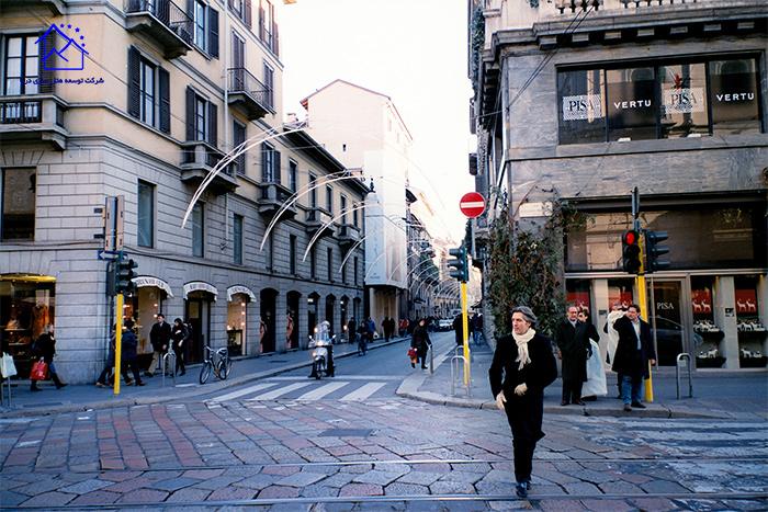 ویا مونته ناپلئون میلان ایتالیا